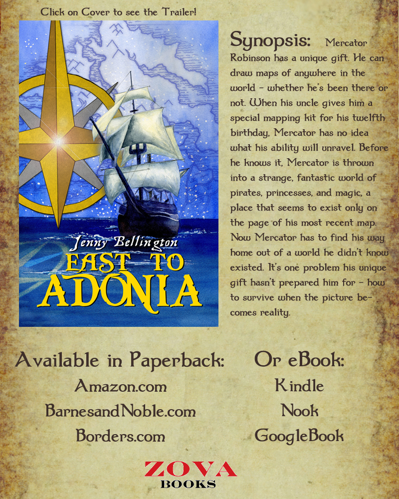 East to Adonia Cover Art, synopsis, ordering info